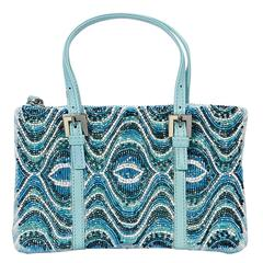 Blue Fendi Guinness Beaded Mini Bag