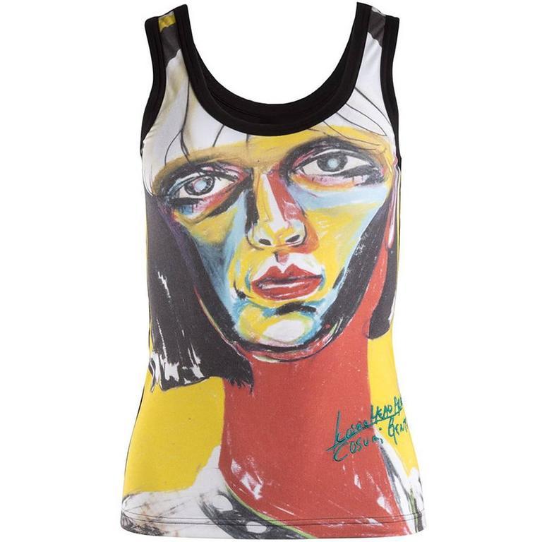 Y's Yohji Yamamoto Limited Edition Face Print Tank