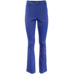 1980's Matsuda Cobalt Blue High Waist Flared Pants