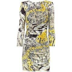 New EMILIO PUCCI Jersey Mini Silk Sexy Stretch Frills Dress It 40 - US 2/4