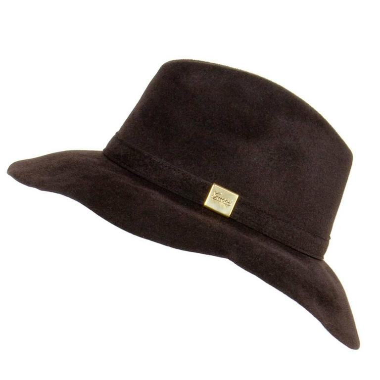 Gucci Brown Rabbit Hair Hat