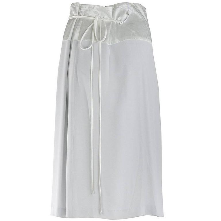 Maison Martin Margiela Blank Label Drawstring Silk Skirt For Sale