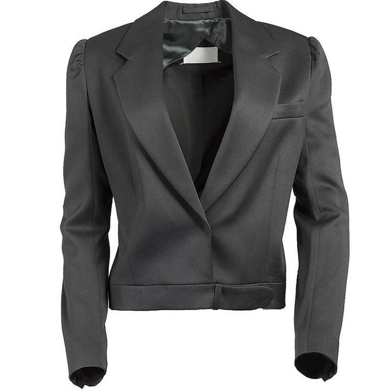 Vintage Maison Martin Margiela Black Cropped Belted Blazer