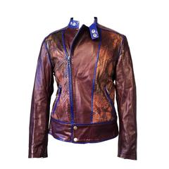 Gents Tom Ford Gucci Python Cafe Racer Motorcycle Jacket