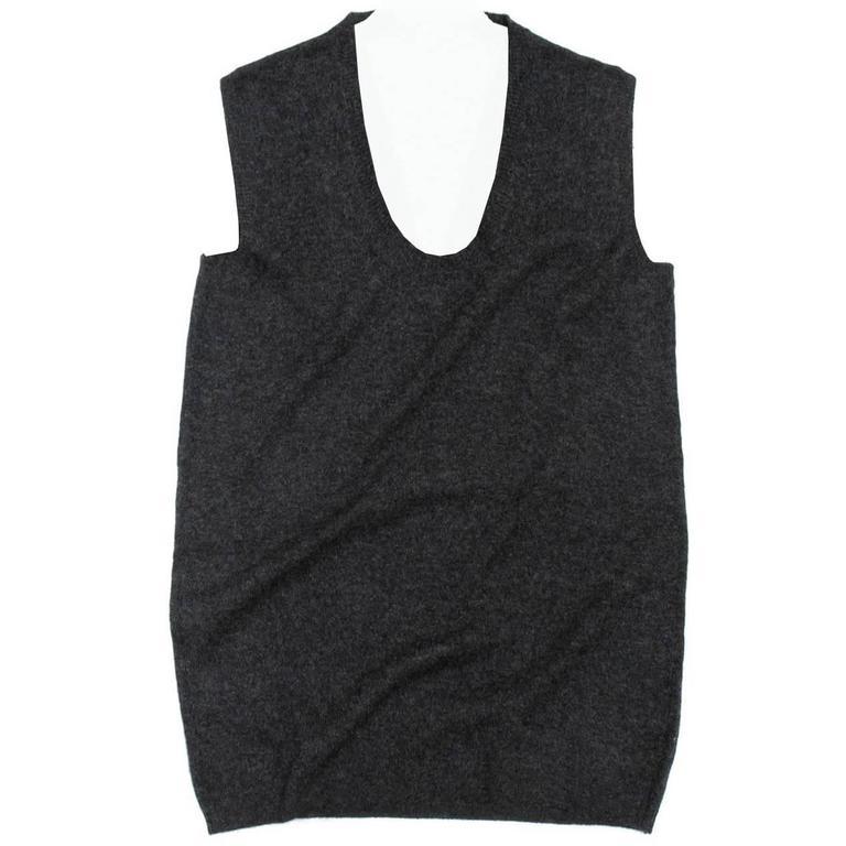 Lanvin Charcoal Grey Cashmere Vest
