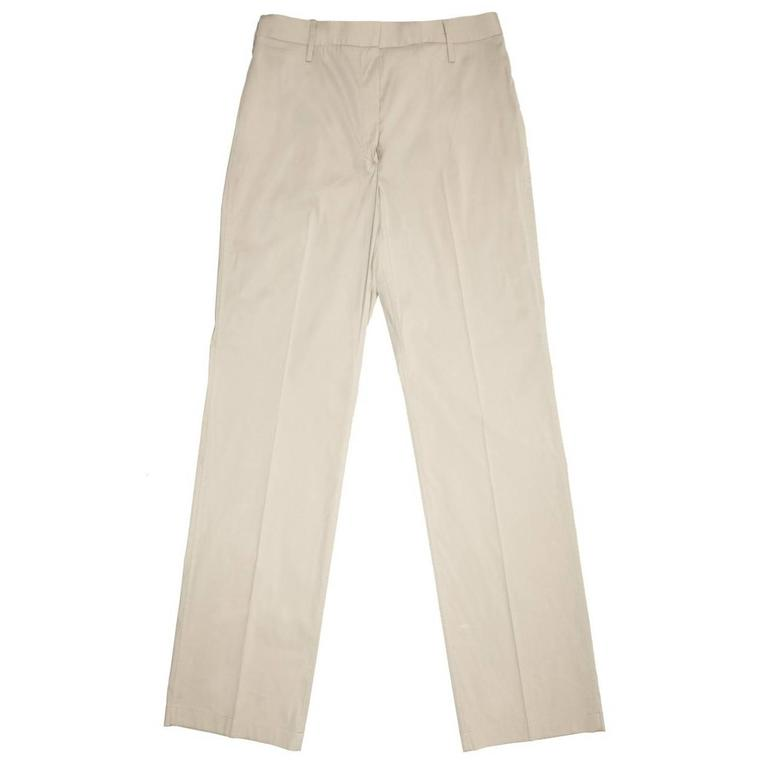 Jil Sander Khaki Cotton Stretch Pants