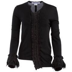 Comme des Garçons Black Sequin Embellished Long Sleeve Top