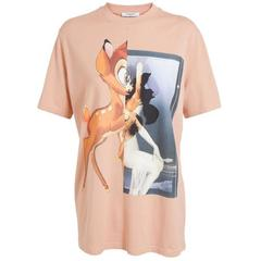 Givenchy NEW Peach Bambi Print Cotton T-Shirt sz S