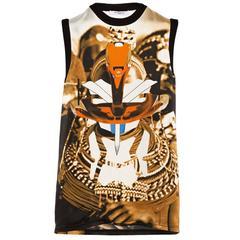 Givenchy SS'14 Tribal & Robot Print Silk Top sz XS rt. $1,200