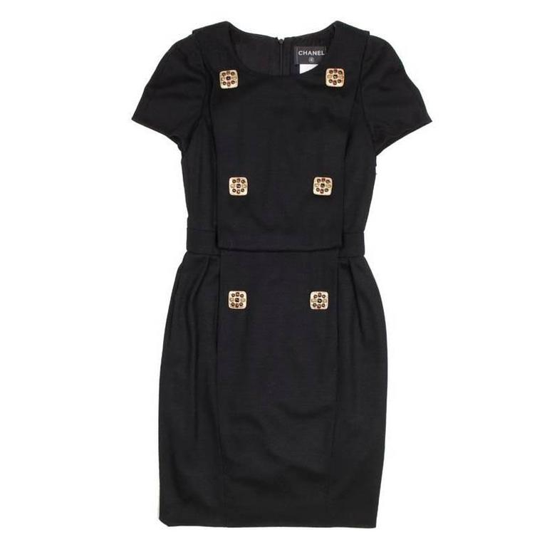 CHANEL Dress in Black Jersey Size 34FR