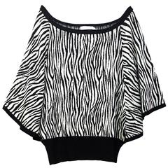Anne Fontaine NEW Black & White Zebra Stripe Sweater sz FR44