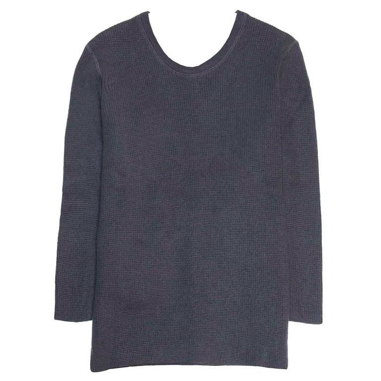 Marc Jacobs Petrol Blue Waffle Style Sweater