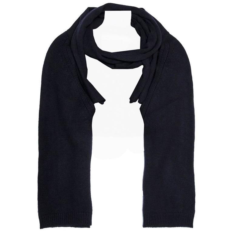 Lanvin Blue Cashmere Knit Bolero