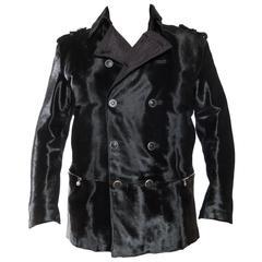 1990s Gianni Versace Men's Fur Coat XL