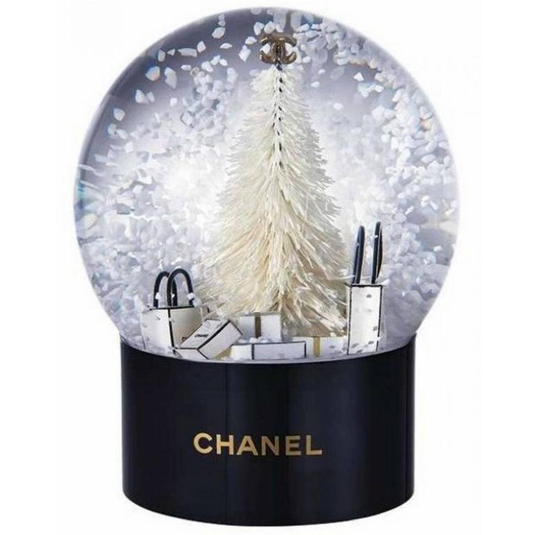 Chanel Vip Collectible Large Snow Globe New At 1stdibs