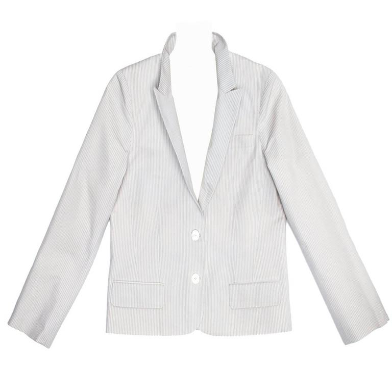 Marc Jacobs White & Blue Seersucker Jacket
