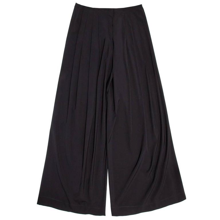 Jil Sander Blue Wool Wide Pants