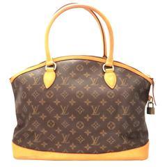 Louis Vuitton Lockit Horizontal Brown Monogram Canvas Tote Bag