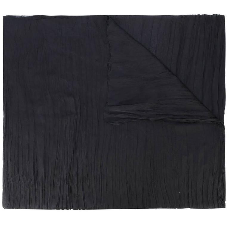 Chanel Plisse-Silk Scarf