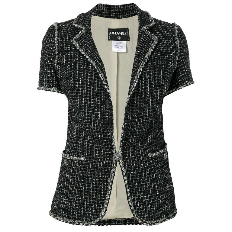 Chanel Metallic Tweed Jacket 1