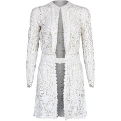 1910s Antique White Battenburg or Princess Tape Lace Bridal Dress Jacket