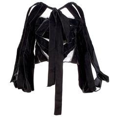 Tom Ford for YSL Rive Gauche Velvet Ribbon Corset Top, Fall 2002 RTW