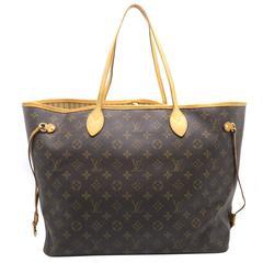 Louis Vuitton Neverfull GM Brown Monogram Canvas Tote Bag