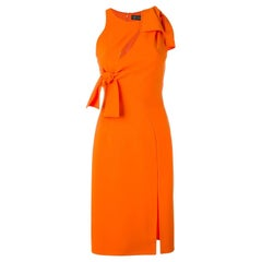 Versace Orange Stretch Dress