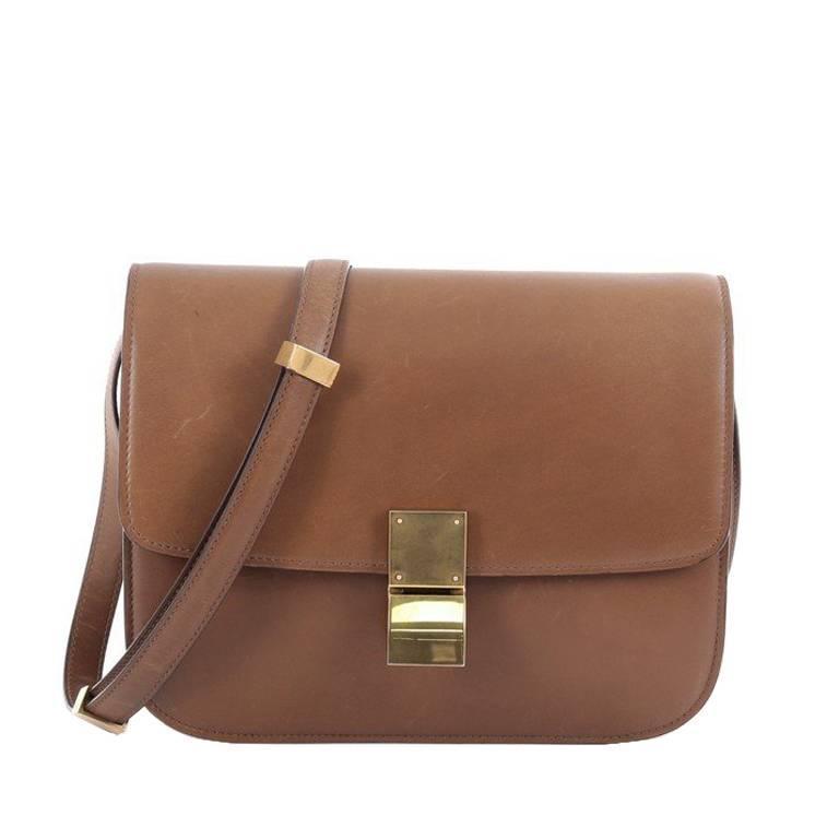 247c9586a717 Celine Box Bag Smooth Leather Medium at 1stdibs