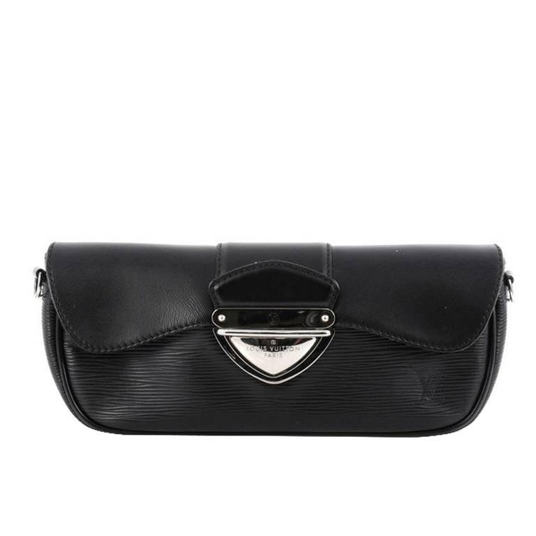 Louis Vuitton Black Epi And Patent Leather Clutch