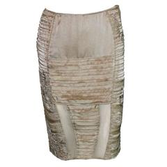 Stunning Gucci by Tom Ford 2003 Kimono Collection Embroidered Silk Skirt