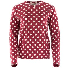 Comme Des Garçons Vintage Red and White Polkadot Pullover
