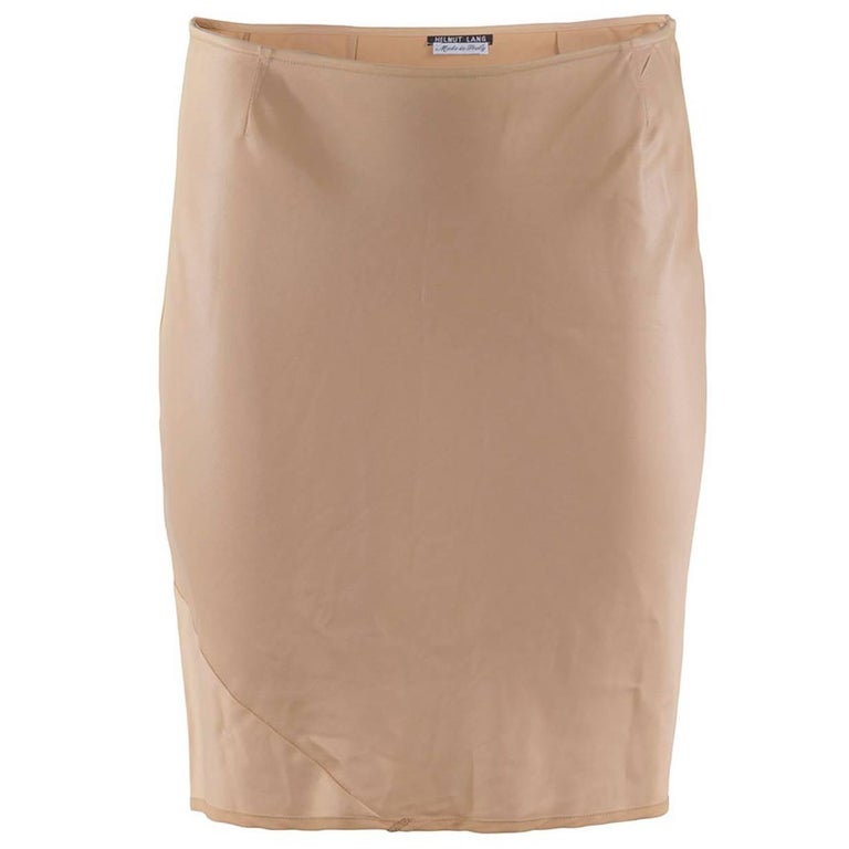 1990's Helmut Lang Fitted Short Pencil Skirt