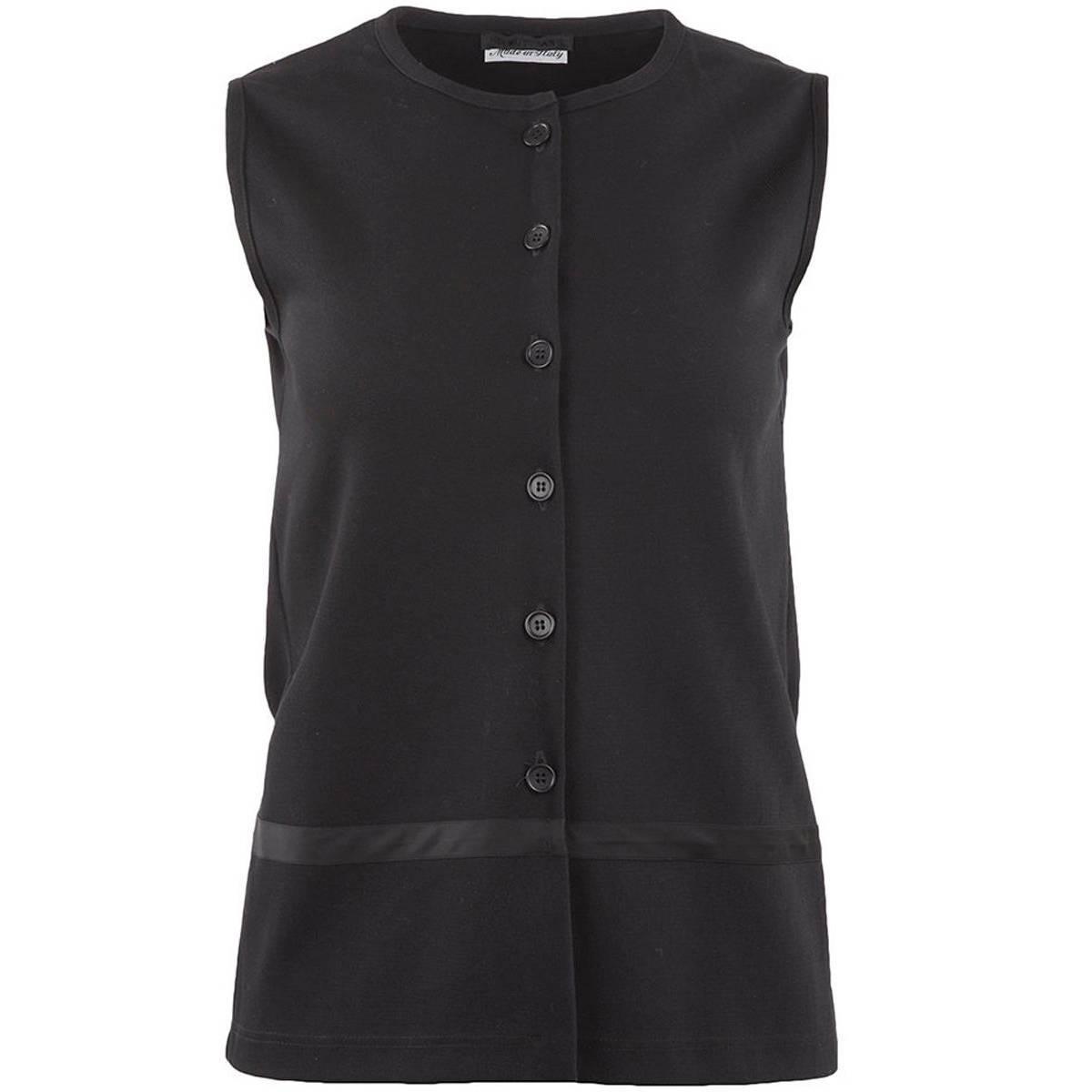 1990's Helmut Lang Minimal Black Buttoned Vest