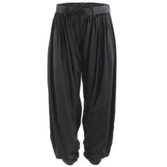 Undercover Black Pleated Silk Harem Pants