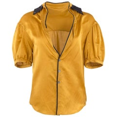 2007 Undercover Mustard Silk Pajama Style Blouse