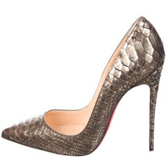 Christian Louboutin New Sold Out Python Snakeskin So Kate High Heels Pumps W/Box