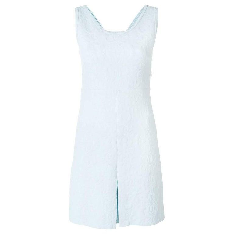 Vintage Chanel Pastel Embossed Dress 1