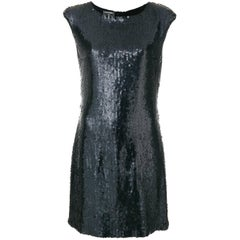 Vintage Chanel Black Sequin Dress