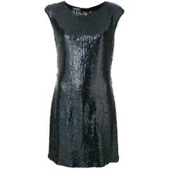 Vintage Chanel Black Sequin Dress