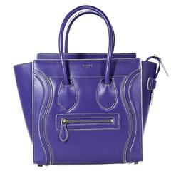 Inky Blue Céline Debossed Luggage Bag