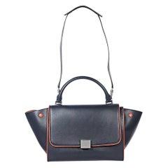 Navy Blue Céline Calfskin Small Trapeze Bag