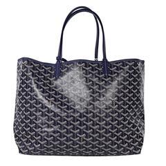 Navy Blue Goyard St. Louis Tote Bag