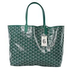 Green Goyard St. Louis Tote Bag