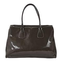 Olive Prada Patent Leather Tote Bag