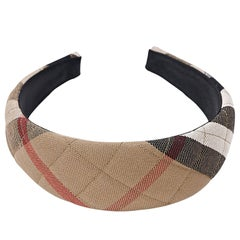 Multicolor Burberry Quilted House Check Headband