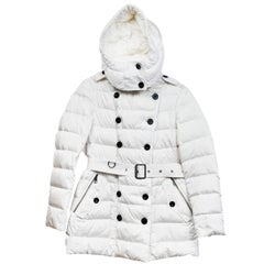 Burberry Brit White Puffer Coat sz L