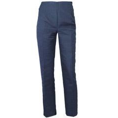 Akris Navy Cropped Pants Sz 10