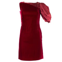Valentino Women's Red Velvet Bodycon Dress