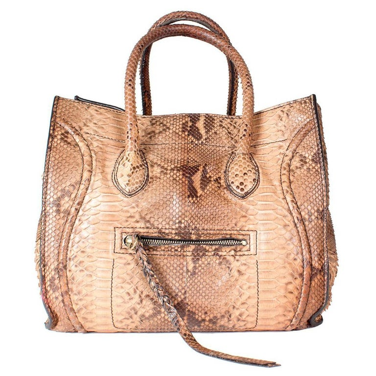 Celin Supple Snakeskin Phantom Tote 1